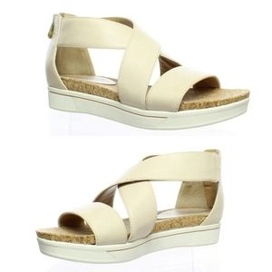 Adrienne Vittadini Claud Bone Sandals 6.5 NWT